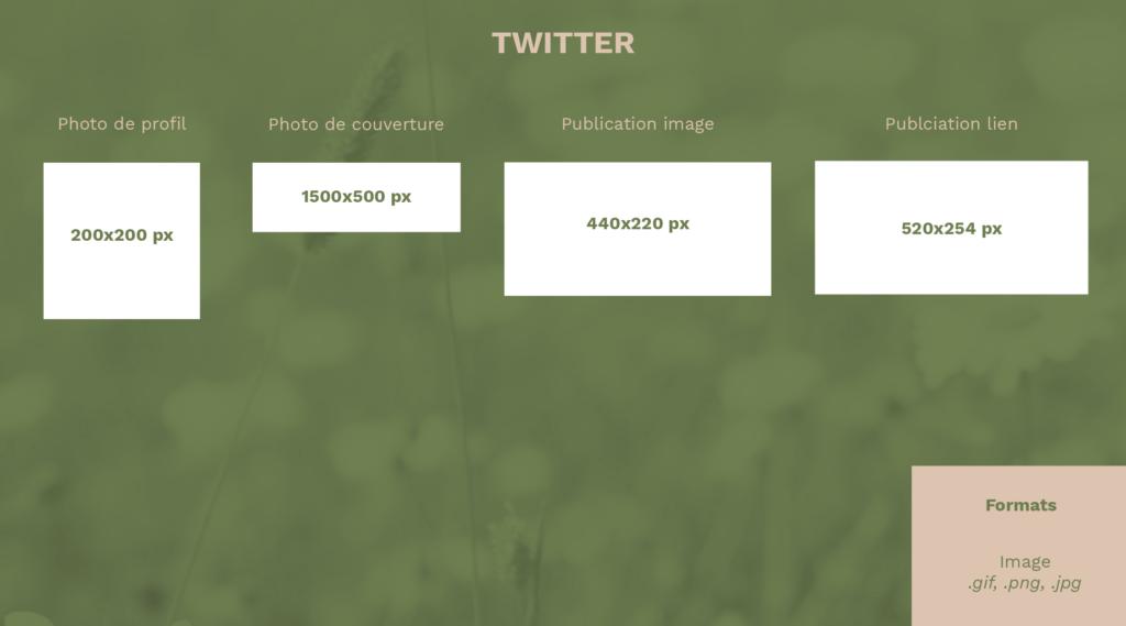 Les dimensions des visuels Twitter